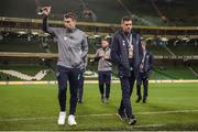 14 November 2017; Seamus Coleman, left, and Jonathan Walters of Republic of Ireland prior to the FIFA 2018 World Cup Qualifier Play-off 2nd leg match between Republic of Ireland and Denmark at Aviva Stadium in Dublin.Photo by Seb Daly/Sportsfile