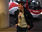 14 November 2017; Republic of Ireland assistant manager Roy Keane arrives prior to the FIFA 2018 World Cup Qualifier Play-off 2nd leg match between Republic of Ireland and Denmark at Aviva Stadium in Dublin. Photo by Stephen McCarthy/Sportsfile