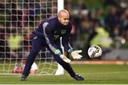14 November 2017; Darren Randolph of Republic of Ireland prior to the FIFA 2018 World Cup Qualifier Play-off 2nd leg match between Republic of Ireland and Denmark at Aviva Stadium in Dublin. Photo by Seb Daly/Sportsfile