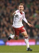 14 November 2017; Christian Eriksen of Denmark celebrates after scoring his side's third goal during the FIFA 2018 World Cup Qualifier Play-off 2nd leg match between Republic of Ireland and Denmark at Aviva Stadium in Dublin. Photo by Eóin Noonan/Sportsfile