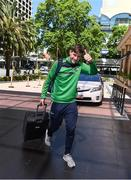 15  November 2017; Monaghan's Darren Hughes as he arrives to join the Ireland International Rules Squad at the Duxton Hotel, Perth, Australia Photo by Ray McManus/Sportsfile