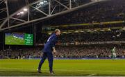 14 November 2017; Republic of Ireland manager Martin O'Neill during the FIFA 2018 World Cup Qualifier Play-off 2nd leg match between Republic of Ireland and Denmark at the Aviva Stadium in Dublin. Photo by Ramsey Cardy/Sportsfile