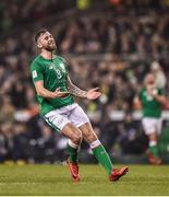 14 November 2017; Daryl Murphy of Republic of Ireland during the FIFA 2018 World Cup Qualifier Play-off 2nd leg match between Republic of Ireland and Denmark at Aviva Stadium in Dublin. Photo by Seb Daly/Sportsfile