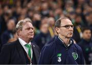 14 November 2017; Republic of Ireland manager Martin O'Neill, right, and assistant coach Steve Walford during the FIFA 2018 World Cup Qualifier Play-off 2nd leg match between Republic of Ireland and Denmark at Aviva Stadium in Dublin. Photo by Stephen McCarthy/Sportsfile