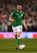 14 November 2017; Robbie Brady of Republic of Ireland during the FIFA 2018 World Cup Qualifier Play-off 2nd leg match between Republic of Ireland and Denmark at Aviva Stadium in Dublin. Photo by Stephen McCarthy/Sportsfile