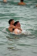 16 November 2017; Conor McManus and Eoin Cadogan during the Ireland International Rules Squad relaxing swim at Cottersloe Beach, Perth, Australia Photo by Ray McManus/Sportsfile