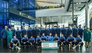 17 November 2017; Dublin hurlers departed Dublin Airport for Boston today onboard Aer Lingus flight EI 139. Aer Lingus, official airline of the AIG Fenway Hurling Classic and Irish Festival, has been serving Boston since 1958 and is thrilled to once again be supporting this unique cultural and sporting event, bringing 130 hurlers to Boston's iconic Fenway Park. Games will be broadcast on TG4 on November 19th with Dublin v Galway in the first semi-final followed by Clare v Tipperary in the second semi-final. Pictured are the Dublin panel. Photo by Ramsey Cardy/Sportsfile