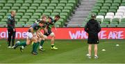 17 November 2017; Head coach Joe Schmidt watches Ian Keatley, Kieran Treadwell, Robbie Henshaw and Sean Reidy during the Ireland rugby captain's run at the Aviva Stadium in Dublin. Photo by Ramsey Cardy/Sportsfile
