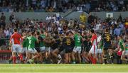 18 November 2017; Players from both sides become involved in a scuffle as they head to the changing rooms at half time in the Virgin Australia International Rules Series 2nd test at the Domain Stadium in Perth, Australia. Photo by Ray McManus/Sportsfile