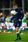 14 November 2017; Republic of Ireland assistant coach Roy Keane during the FIFA 2018 World Cup Qualifier Play-off 2nd leg match between Republic of Ireland and Denmark at Aviva Stadium in Dublin. Photo by Ramsey Cardy/Sportsfile
