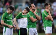 18 November 2017; Ireland players, left to right, Conor McManus, Karl O'Connell, Michael Murphy and Enda Smith of Ireland after the Virgin Australia International Rules Series 2nd test at the Domain Stadium in Perth, Australia. Photo by Ray McManus/Sportsfile