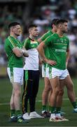 18 November 2017; Ireland players, left to right, Conor McManus, Karl O'Connell and Eoin Cadogan of Ireland after the Virgin Australia International Rules Series 2nd test at the Domain Stadium in Perth, Australia. Photo by Ray McManus/Sportsfile