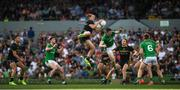 18 November 2017; Nat Fyfe of Australia jumps higher than Kevin Feely of Ireland, to make a mark, during the Virgin Australia International Rules Series 2nd test at the Domain Stadium in Perth, Australia. Photo by Ray McManus/Sportsfile