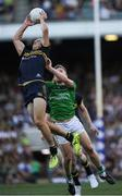 18 November 2017; Nat Fyfe of Australia makes a mark ahead of Peter Crowley of Ireland during the Virgin Australia International Rules Series 2nd test at the Domain Stadium in Perth, Australia. Photo by Ray McManus/Sportsfile