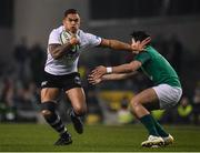 18 November 2017; Jale Vatubua of Fiji in action against Joey Carbery of Ireland during the Guinness Series International match between Ireland and Fiji at the Aviva Stadium in Dublin. Photo by Sam Barnes/Sportsfile