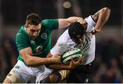 18 November 2017; Akapusi Qera of Fiji is tackled by Jack Conan of Ireland during the Guinness Series International match between Ireland and Fiji at the Aviva Stadium in Dublin. Photo by Sam Barnes/Sportsfile