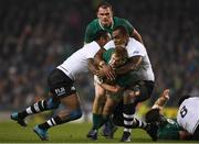 18 November 2017; Kieran Marmion of Ireland is tackled by Kini Murimurivalu, left, and Leone Nakarawa of Fiji during the Guinness Series International match between Ireland and Fiji at the Aviva Stadium in Dublin. Photo by Eóin Noonan/Sportsfile