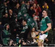 18 November 2017; Jack Conan of Ireland celebrates after scoring his side's third try during the Guinness Series International match between Ireland and Fiji at the Aviva Stadium in Dublin. Photo by Seb Daly/Sportsfile