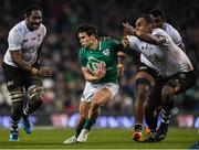 18 November 2017; Joey Carbery of Ireland is tackled by Leone Nakarawa of Fiji during the Guinness Series International match between Ireland and Fiji at the Aviva Stadium in Dublin. Photo by Eóin Noonan/Sportsfile