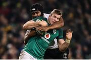 18 November 2017; Chris Farrell of Ireland is tackled by Dominiko Waqaniburotu of Fiji during the Guinness Series International match between Ireland and Fiji at the Aviva Stadium in Dublin. Photo by Seb Daly/Sportsfile