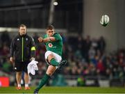 18 November 2017; Ian Keatley of Ireland kicks a penalty during the Guinness Series International match between Ireland and Fiji at the Aviva Stadium in Dublin. Photo by Sam Barnes/Sportsfile