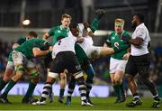 18 November 2017; Cian Healy of Ireland is tackled by Akapusi Qera, left, and Kini Murimurivalu of Fiji during the Guinness Series International match between Ireland and Fiji at the Aviva Stadium in Dublin. Photo by Sam Barnes/Sportsfile