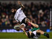 18 November 2017; Nikola Matawalu of Fiji is tackled by Andrew Conway of Ireland during the Guinness Series International match between Ireland and Fiji at the Aviva Stadium in Dublin. Photo by Sam Barnes/Sportsfile
