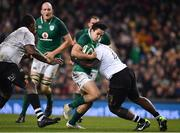 18 November 2017; Joey Carbery of Ireland is tackled by Peni Ravai of Fiji during the Guinness Series International match between Ireland and Fiji at the Aviva Stadium in Dublin. Photo by Sam Barnes/Sportsfile