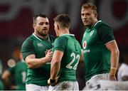 18 November 2017; Ireland players, from left, Cian Healy, Ian Keatley and Kieran Treadwell following the Guinness Series International match between Ireland and Fiji at the Aviva Stadium in Dublin. Photo by Sam Barnes/Sportsfile