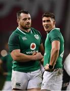 18 November 2017; Cian Healy and Ian Keatley of Ireland following the Guinness Series International match between Ireland and Fiji at the Aviva Stadium in Dublin. Photo by Sam Barnes/Sportsfile