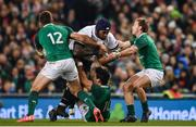 18 November 2017; Nemani Nadolo of Fiji is tackled by, from left, Stuart McCloskey, Joey Carbery and Kieran Marmion of Ireland during the Guinness Series International match between Ireland and Fiji at the Aviva Stadium in Dublin. Photo by Sam Barnes/Sportsfile