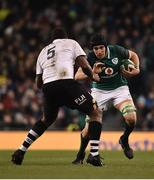 18 November 2017; Ultan Dillane of Ireland in action against Leone Nakarawa of Fiji during the Guinness Series International match between Ireland and Fiji at the Aviva Stadium in Dublin. Photo by Seb Daly/Sportsfile