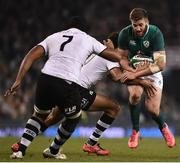 18 November 2017; Stuart McCloskey of Ireland is tackled by Ben Volavola of Fiji during the Guinness Series International match between Ireland and Fiji at the Aviva Stadium in Dublin. Photo by Seb Daly/Sportsfile