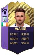 18 November 2017; A graphic featuring PFA Ireland EA SPORTS™ Players' Player of the Year Winner Sean Maguire. The FIFA 18 Ultimate Team award-winner item, available in game from midnight on Saturday 18th November. Celebrating the win and mirroring his tremendous performances on the pitch throughout the year, this in-form FIFA Ultimate Team item sees Sean's overall rating go from 62 to 82. With an incredible pace of 93, fans will have just one week to pack this very special item. Photo by Stephen McCarthy/Sportsfile