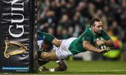 18 November 2017; Dave Kearney of Ireland goes over to score a try which is ultimately dissallowed during the Guinness Series International match between Ireland and Fiji at the Aviva Stadium in Dublin. Photo by Eóin Noonan/Sportsfile