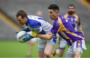 19 November 2017; Niall Smith of Cavan Gaels in action against Garvan McGinley of Derrygonnelly during the AIB Ulster GAA Football Senior Club Championship Semi-Final Replay match between Cavan Gaels and Derrygonnelly Harps at St Tiernach's Park in Clones, Monaghan. Photo by Sam Barnes/Sportsfile