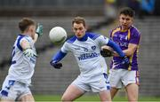 19 November 2017; Martin Dunne of Cavan Gaels in action against Shane McGullion of Derrygonnelly during the AIB Ulster GAA Football Senior Club Championship Semi-Final Replay match between Cavan Gaels and Derrygonnelly Harps at St Tiernach's Park in Clones, Monaghan. Photo by Sam Barnes/Sportsfile