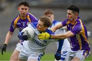 19 November 2017; Martin Dunne of Cavan Gaels in action against Garvan McGinley of Derrygonnelly during the AIB Ulster GAA Football Senior Club Championship Semi-Final Replay match between Cavan Gaels and Derrygonnelly Harps at St Tiernach's Park in Clones, Monaghan. Photo by Sam Barnes/Sportsfile