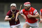 19 November 2017; Con O'Callaghan of Cuala in action against Aaron Maddock of St. Martin's during the AIB Leinster GAA Hurling Senior Club Championship Semi-Final match between Cuala and St Martin's GAA Club at Parnell Park in Dublin. Photo by Cody Glenn/Sportsfile