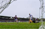 19 November 2017; Paul O'Connor of Cavan Gaels shoots to score his side's first goal despite the efforts of Dermot Feely and Denis Greene of Derrygonnelly during the AIB Ulster GAA Football Senior Club Championship Semi-Final Replay match between Cavan Gaels and Derrygonnelly Harps at St Tiernach's Park in Clones, Monaghan. Photo by Sam Barnes/Sportsfile
