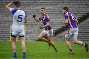 19 November 2017; Conal Jones of Derrygonnelly celebrates after scoring his side's second goal during the AIB Ulster GAA Football Senior Club Championship Semi-Final Replay match between Cavan Gaels and Derrygonnelly Harps at St Tiernach's Park in Clones, Monaghan. Photo by Sam Barnes/Sportsfile