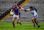 19 November 2017; Conal Jones of Derrygonnelly shoots to score his side's second goal despite the efforts of Niall Murray of Cavan Gaels during the AIB Ulster GAA Football Senior Club Championship Semi-Final Replay match between Cavan Gaels and Derrygonnelly Harps at St Tiernach's Park in Clones, Monaghan. Photo by Sam Barnes/Sportsfile