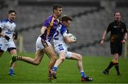 19 November 2017; Vincent Coyle of Cavan Gaels in action against Conal Jones of Derrygonnelly during the AIB Ulster GAA Football Senior Club Championship Semi-Final Replay match between Cavan Gaels and Derrygonnelly Harps at St Tiernach's Park in Clones, Monaghan. Photo by Sam Barnes/Sportsfile