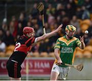 19 November 2017; Damien Kilmartin of Kilcormac - Killoughey in action against Edward Byrne of Mount Leinster Rangers during the AIB Leinster GAA Hurling Senior Club Championship Semi-Final match between Kilcormac - Killoughey and Mount Leinster Rangers at O'Connor Park in Tullamore, Co Offaly. Photo by Seb Daly/Sportsfile