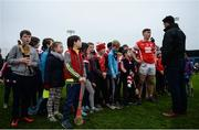 19 November 2017; Con O'Callaghan of Cuala is interviewed by TG4 after the AIB Leinster GAA Hurling Senior Club Championship Semi-Final match between Cuala and St Martin's GAA Club at Parnell Park in Dublin. Photo by Cody Glenn/Sportsfile