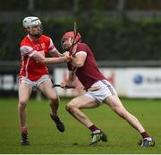 19 November 2017; Daithí Waters of St. Martin's in action against Colm Cronin of Cuala during the AIB Leinster GAA Hurling Senior Club Championship Semi-Final match between Cuala and St Martin's GAA Club at Parnell Park in Dublin. Photo by Cody Glenn/Sportsfile