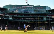 19 November 2017; Rian McBride of Dublin in action against Conor Cooney of Galway during the AIG Super 11's Fenway Classic Semi-Final match between Dublin and Galway at Fenway Park in Boston, MA, USA. Photo by Brendan Moran/Sportsfile