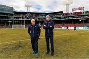 19 November 2017; Dublin manager Pat Gilroy, right, with selector Anthony Cunningham before the AIG Super 11's Fenway Classic Semi-Final match between Dublin and Galway at Fenway Park in Boston, MA, USA. Photo by Brendan Moran/Sportsfile