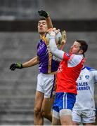 19 November 2017; Conal Jones of Derrygonnelly in action against Ciaran Flynn of Cavan Gaels during the AIB Ulster GAA Football Senior Club Championship Semi-Final Replay match between Cavan Gaels and Derrygonnelly Harps at St Tiernach's Park in Clones, Monaghan. Photo by Sam Barnes/Sportsfile