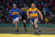 19 November 2017; David McInerney of Clare in action against Patrick Maher of Tipperary during the AIG Super 11's Fenway Classic Semi-Final match between Clare and Tipperary at Fenway Park in Boston, MA, USA. Photo by Brendan Moran/Sportsfile